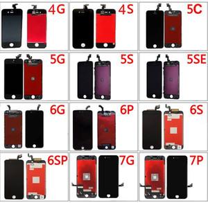 للآيفون 5 / 5C / 5S / SE / 6 / 6S / 7 Plus جودة عالية A +++ iPhone LCD الجمعية لوحة عرض لوحة تعمل باللمس استبدال محول