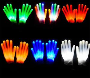100 lote LED Luvas Piscando Cosplay Novidade Luvas de Brinquedo Levou Luz Luvas de Flash para Língua de Sinais Festa de Natal do Dia Das Bruxas D884