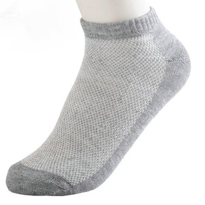 Solid Mesh Men Socks Invisible Ankle Socks Men Summer Breathable Thin Boat Socks Size 38-43