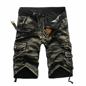 Atacado-2016 nova camuflagem dos homens de alta qualidade Casual Carga Shorts Camo Multi-bolso Shorts ao ar livre para homens Pantalones Hombre