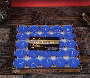 Smokeless Unscented teelichtern Hochzeit Festival Runde Aluminiumlegierung Kleine Kerzenwachs Lichter in der Dunkelheit Romantische Dekoration nt