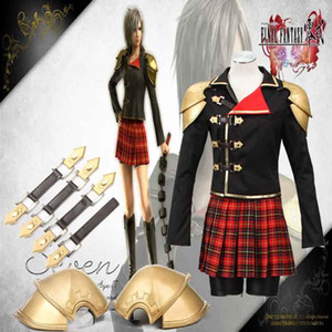 HOT Final Fantasy Game Type-0 Seven 1st Cosplay Costume Peristylium Suzaku Group 0 Costume For Halloween Christmas