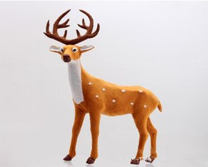 20cm Christmas Spotted Deer Toys Christmas Gifts Decoration DIY Toy Party Hotel Home Decor Milu KCT 001