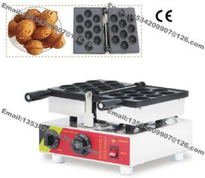 Ücretsiz Kargo Ticari Yapışmaz 110 v 220 v Elektrikli 10 adet Rus Oreshki Fındık Waffle makinesi Demir Baker Makinesi kalıp Plaka