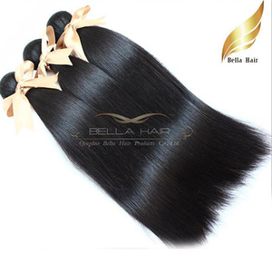 "8A 10""-34""100% Straight Hair Weaves Malaysian hair 4pcs lot Virgin human hair extensions DHL Free shipping natural color Bellahair"