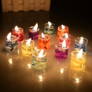 Свечи Art для дня рождения Валентина, загадывая желания Разнообразные цвета, гелевые восковые свечи на день рождения Код продукта: 120-1004