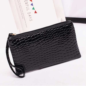 New Leather Women Wallets Alligator Grain Coins Card Holder Purse Wallet