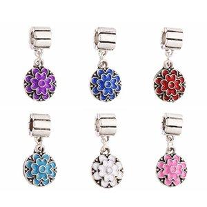 DIY 925 Silber überzogene Murano Perlen kleine baumeln Perlen großes Loch Murano Glas Charm Bead für Pandora Armbänder