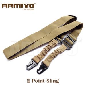 Armiyo 2 Point Tracolla Tactical Multi Mission Bungee Strap Belt Fucile Gun Sling Primavera metallo fibbia caccia