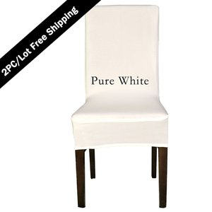 Free Shipping 2PC Strectch Chair Seat Cover 2016 Big Promotion Cheap Spandex Machine Washable Chair Cover for Hotel Dining Home Decoration