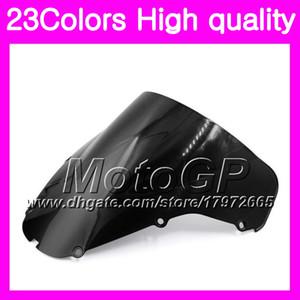 23Colors Windscreen Para HONDA CBR929RR 00 01 CBR900RR CBR 929 RR 900RR CBR929 RR 2000 2001 Cromo Preto Gears Smoke Windshield