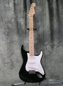 Özel Mağaza Eric Clapton İmza Siyah Elektro Gitar BLACKIE Strat Ocaster Elektro Gitar Akçaağaç Fingerboard Nokta Kakma Beyaz Pickguard