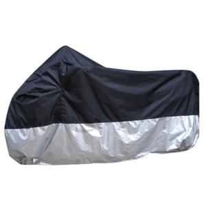 Hochwertige wasserdichte atmungsaktive UV-Motorrad-Motorfahrzeug Schwarz und Silber Abdeckung Split Color Tilts Schutzfolien