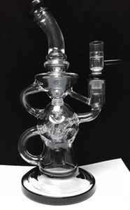 2016 FTK Klein glass bongs Fab klein rig recycler glass water pipes oil rigs Hookahs 14.4mm female joint torus Thick glass good function