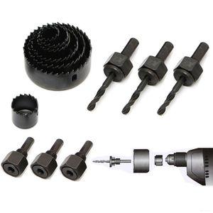 11-em-1 DIY Buraco Saw Bit Kit Conjunto De Corte 19-64mm Ligas De Metal De Folha De Metal Circular Rodada Caso Brocas