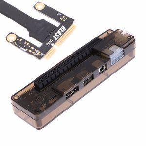 Freeshipping PCI-E كمبيوتر محمول خارجي بطاقة حوض محطة ATX كابل لواجهة PCI-E البسيطة