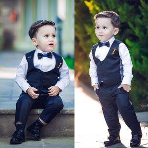 Eventos de casamento O Menino Cavalheiro Terno de Pico Lapela Meninos Ternos Gravata Venda Custom Made Formal Boy's Wear