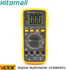 Atacado-Professional Faixa Manual 2000 Contagens 20A 1000 V Resistência Capacitância Indutância Temperatura Victor Multímetro Digital VC9805A +