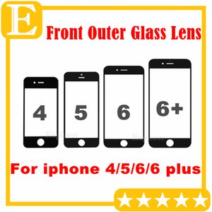 50PCS For iphone 5 6 6S plus Front Outer Glass Lens For iphone 4 4S 5C 5S Glass Touch Screen Cover Replacement Parts