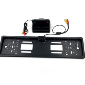 새로운 4.3 인치 Foldable 디지털 TFT LCD 모니터 + 주차 지원을위한 유럽 자동차 번호판 프레임 자동차 후면보기 카메라