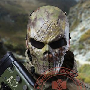 Nueva moda Emirates M06 Predator Mask, Cara completa Scary Skull Skeleton Airsoft / BB Gun / CS Máscara de protección de cara completa