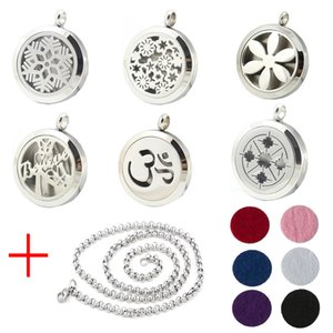 Aroma Jewelry 30mm Perfume Locket 316L Stainless Steel Essential Oil Aromatherapy Diffuser Locket Pendant (Send Chain Felt Pad) WS-18