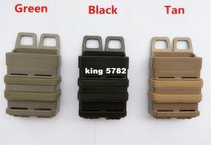 El compartimiento rápido triple del bolso del engranaje MOLLE Airsoft rápido el clip de la bolsa de MAG MOLLE / 5.56 mm fast mag Funda de la bolsa de la revista M4