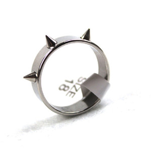 wholesale lots 50pcs Gothic Punk Rock style Spiked men's women's stainless steel polished rings brand new