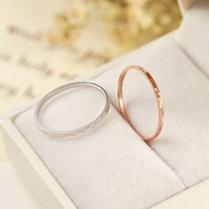 Anillo de plata esterlina S925, anillo de línea de unión simple del temperamento de alta calidad 2017, anillo fino de la cola de las señoras, anillo de la joyería de la manera venta al por mayor