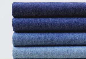 Großhandel 5 Farbe A Klasse gewaschen Baumwolle Denim Stoff, Druck Satin Stoff, Tweed Stoff Hosen Kleid Baumwolle Stoff Tecido B238