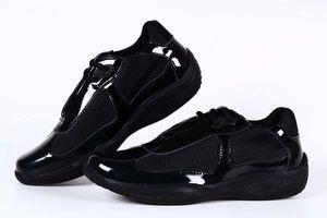 Nueva llegada negro para hombre Zapatos Confort manera ocasional la zapatilla de deporte zapatos deportivos para Charol Hombre con malla transpirable zapatos 39-46