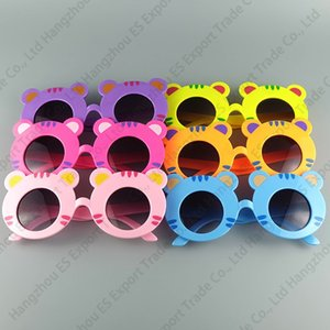 Дети Солнцезащитные очки Красочные Голова Tiger Очки Милые Летние Детские Солнцезащитные Очки UV400 Смешайте 6 Цветов