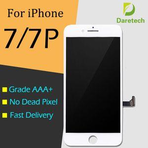 LCD Display Touch Digitizer Frame Assembly Repair Per iPhone bianco nero 7 7 Plus spedizione gratuita DHL