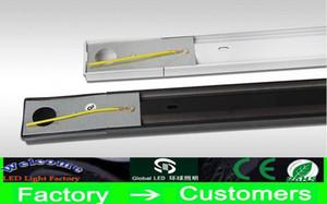 LED Demiryolu Aydınlatma LED Parça Işık orbital Siyah / Beyaz Kabuk LED Tavan Işık LED Spot LED Projeksiyon Lambası Duvar Işık DHL Üzerinden