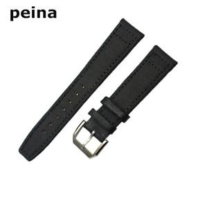 20mm 21mm 22mm Nouvelle bande de montre en nylon et cuir noir / vert pour montres IWC