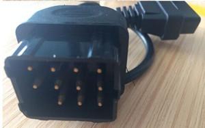 GAZ 12 Pim 12pin Erkek OBD OBD2 OBDII DLC 16 Pim 16pin Kadın Araç Tanı Aracı için Adaptör Dönüştürücü Kablo