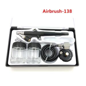 Model 138 Hava Fırça Püskürtme Tabancası Ressam Tek Eylem Hava fırça Acemi Için 0.8mm Meme Airbrush
