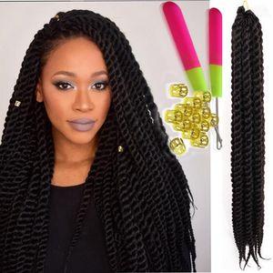 siyah kadınlar için Havana mambo büküm tığ örgü saç uzatma 12,18inch Havana büküm saç uzatma 100g marley sentetik örgü saç