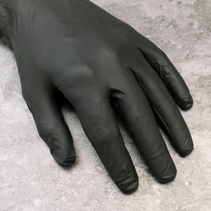 Gants de tatouage pour Kit tatouage professionnel d'alimentation d'encre de tatouage outil Brand New Taille M 50 paires de gants à usage unique Noir Nitrile TA241