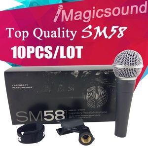 업그레이드 버전 SM58LC !! 진짜 변압기! 10PCS 최고 품질의 SM 58 58LC 유선 다이나믹 카디오이드 마이크 보컬 마이크로폰 마이크