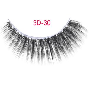 3D-30 Frete Grátis 2 pçs / lote 100% handmade real vison cabelo cílios falsos 3D tira cílios de seda grosso falso cílios falsos Maquiagem beleza
