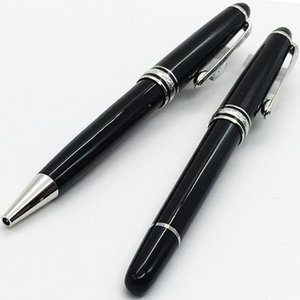 Luxury Pen # 163 Classique penna a sfera in resina nera, fornitore di ufficio penna roller mb con refill di numero di serie 0.7mm