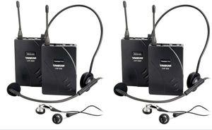 Nuevo sistema de guía turístico de auriculares inalámbricos Takstar UHF-938 al por mayor más barato para visitar la conferencia de turismo, capacitación docente, 2 set / lote