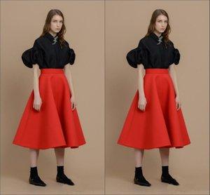 Красный цвет сексуальные атласные юбки для девочек до колен новейшие юбки для девочек на заказ оборки империи юбки-линии реального изображения