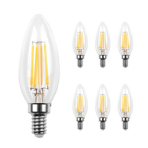 Led Candelabra ampoule base COB LED Filament Flamme Vintage Bougie Ampoule pour la maison, cuisine, salle à manger, Chambre, Salon, 2W 4W 6W
