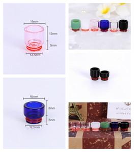 Drip Tip in vetro Pyrex 810 Drip Tip in vetro Premium 6 colori Bocchino corto lungo per atomizzatori a filo 810 Serbatoio RDA TFV8 Accessori Prince