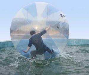 2M şişme Su sporları top PVC şişme Zorb topları açık hava spor topları top su sporları topları çocuklara oyuncak yürüyen topu dans