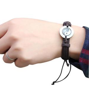 Wholesale-Stylish 2016 NEW creative Chinese Style Bracelet Tai Chi Ying Yang Theme Men Women Wristband JN20