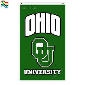 GoodFlag Ücretsiz Kargo ohio üniversitesi bayrağı banner 3X5 FT 90 * 150 CM Polyester Açık Bayrağı