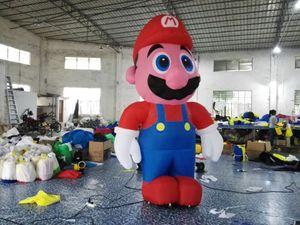 красный и голубой раздувной персонаж мультфильма раздувное Марио для рекламы используемой